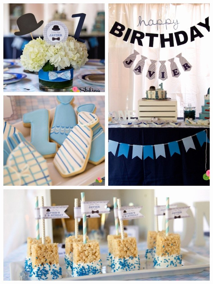 Guy Birthday Decoration Ideas Fresh Kara S Party Ideas Little Man themed Birthday Party