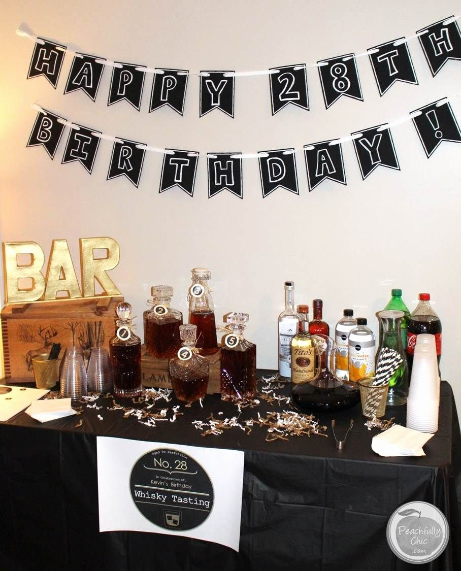 Guy Birthday Decoration Ideas Luxury Planning A Guy S Birthday Party Whiskey Tasting