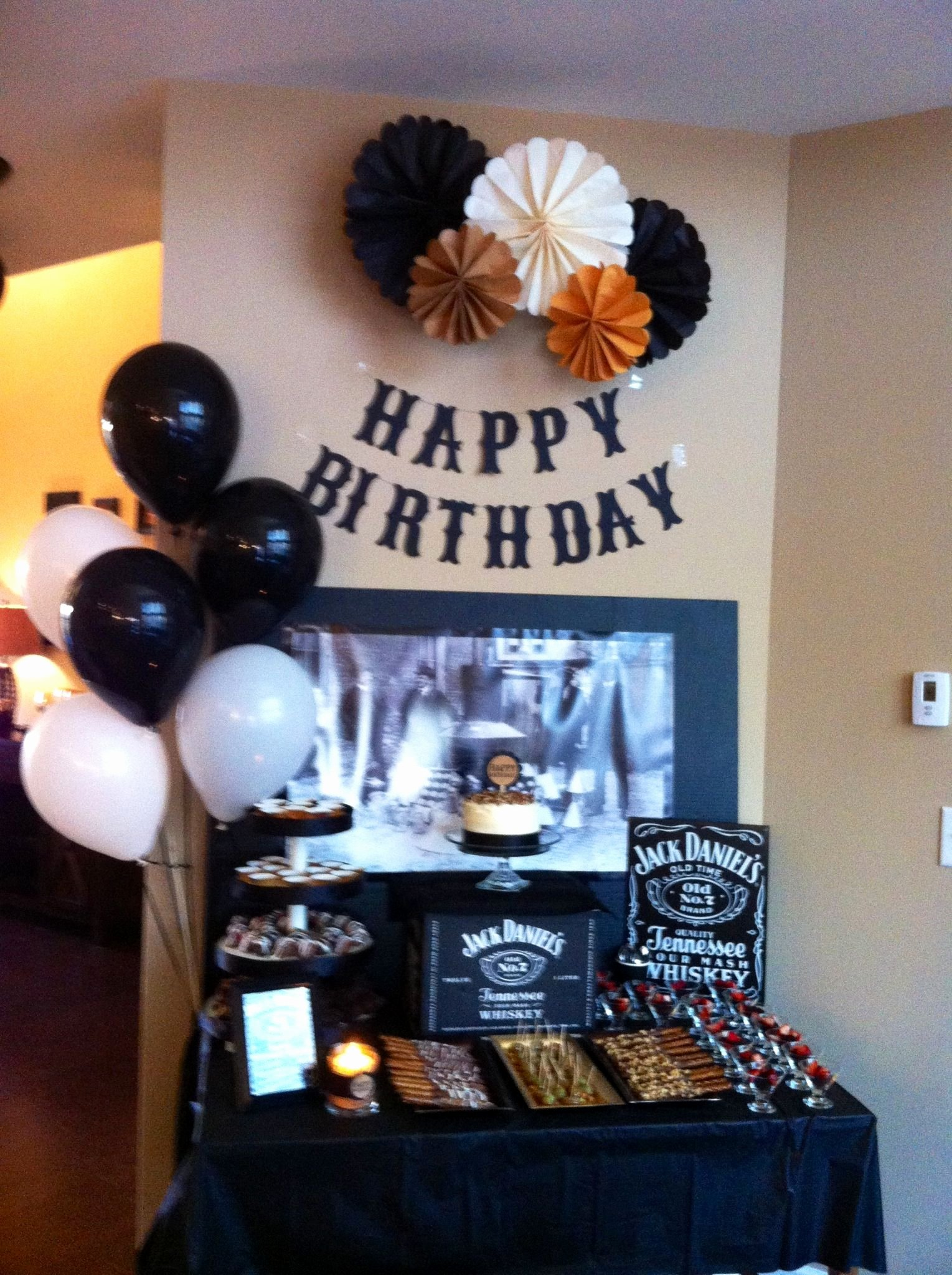 Guys Birthday Decoration Ideas Fresh Jack Daniels Party