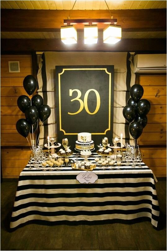 Guys Birthday Decoration Ideas Inspirational 30th Birthday Party Decorations for Men 23 Cute Glam 30th