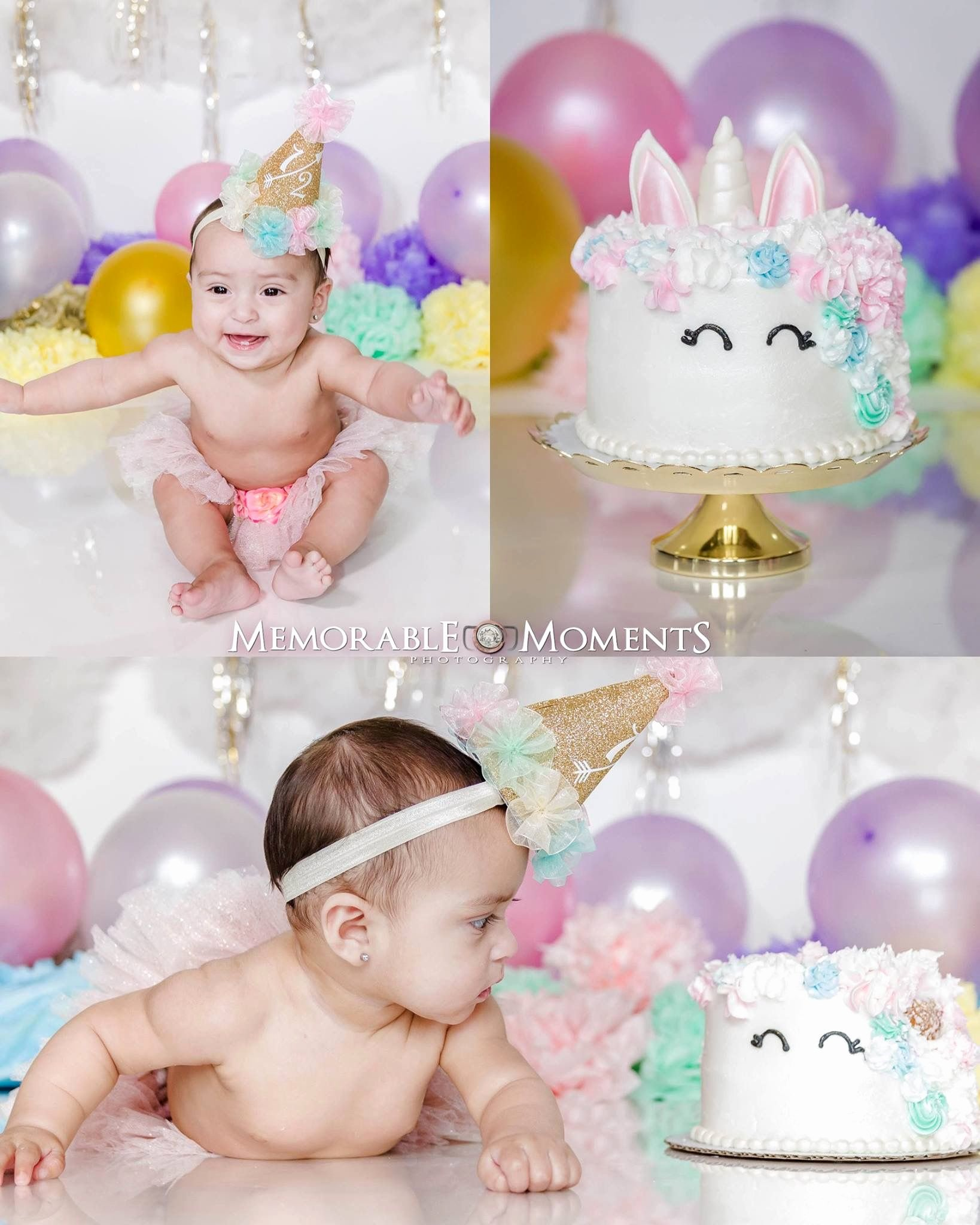 Half Birthday Decoration Ideas Awesome Half Birthday Unicorn themed Smash Cake 6 Months Birthday