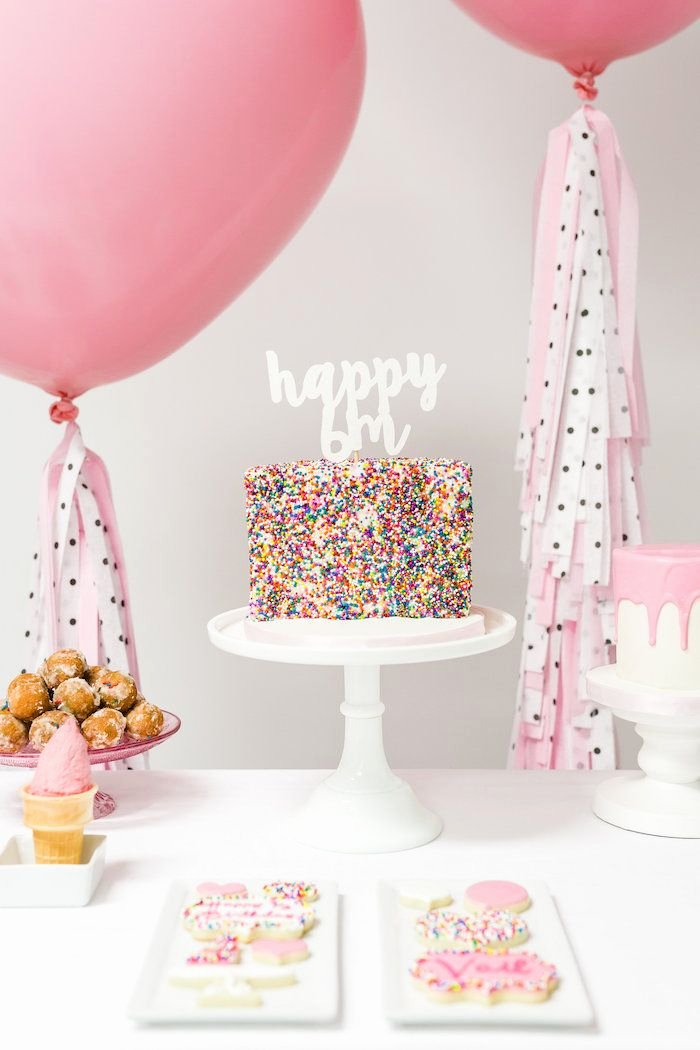 Half Birthday Decoration Ideas Elegant Little Sprinkles Half Birthday Party with Images