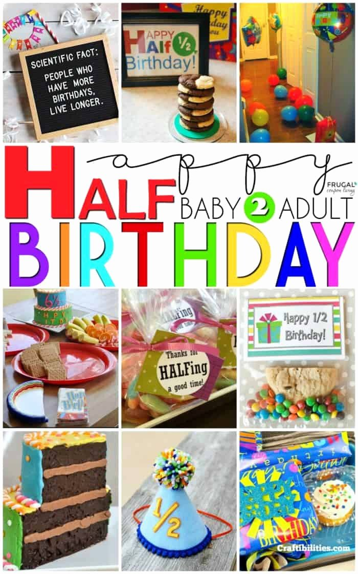 Half Year Birthday Decoration Ideas Inspirational Half Birthday Party Ideas