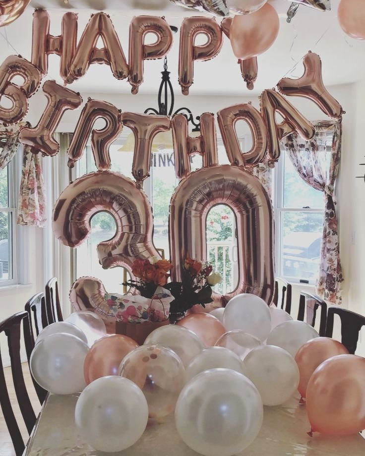 Happy 30th Birthday Decoration Ideas Inspirational 30th Birthday Celebration Decor Balloons Rose Gold Pink