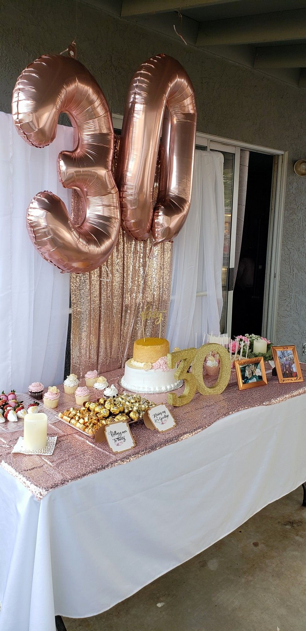 Happy 30th Birthday Decoration Ideas Luxury Rose Gold Cake Table