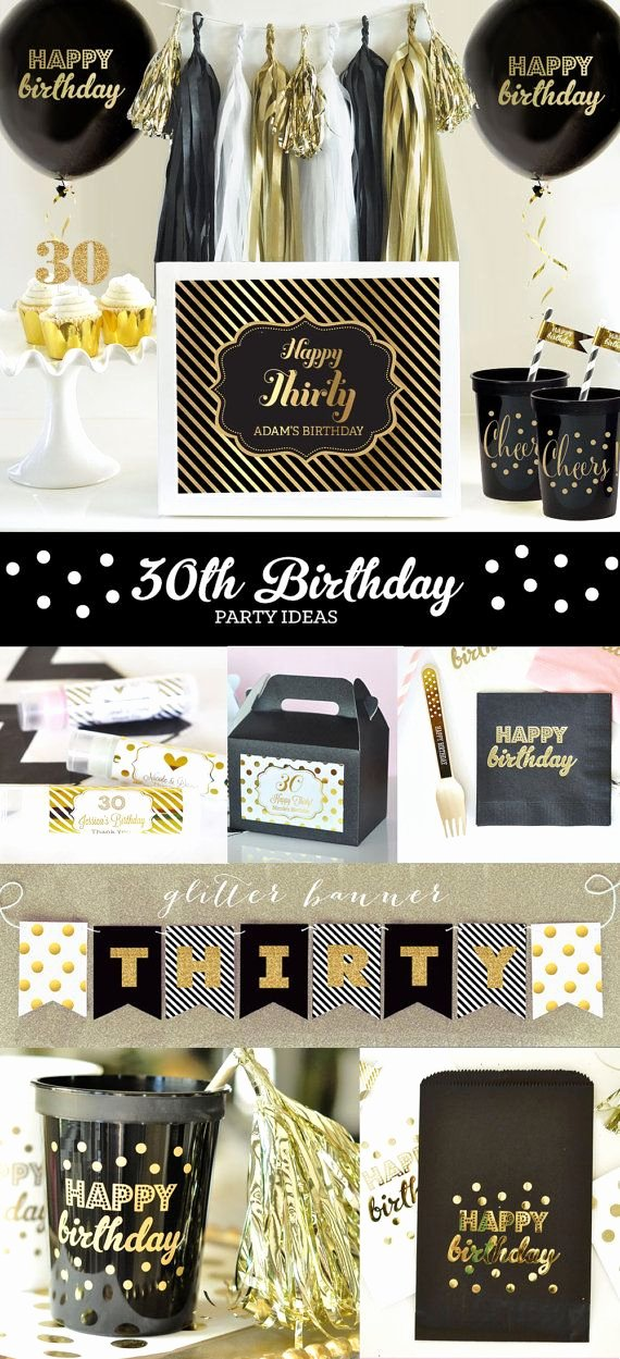 Happy 30th Birthday Decoration Ideas New 30th Birthday Decorations 30th Birthday for Him or Her 30th