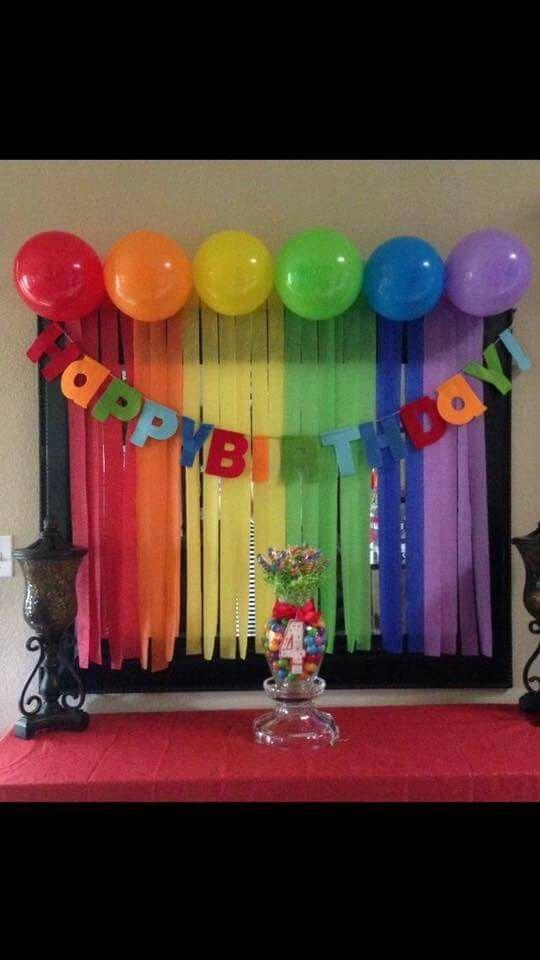 Happy Birthday Decoration Ideas Simple New Simple Rainbow Happy Birthday