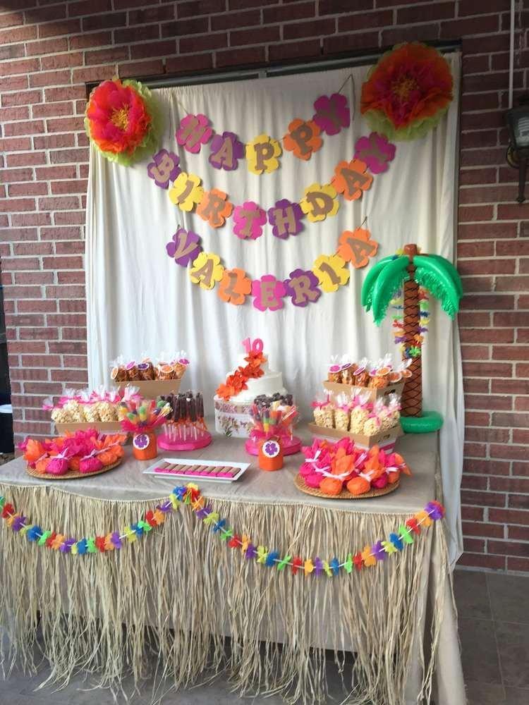 Hawaiian Birthday Decoration Ideas Elegant Luau Hawaiian Birthday Party Ideas