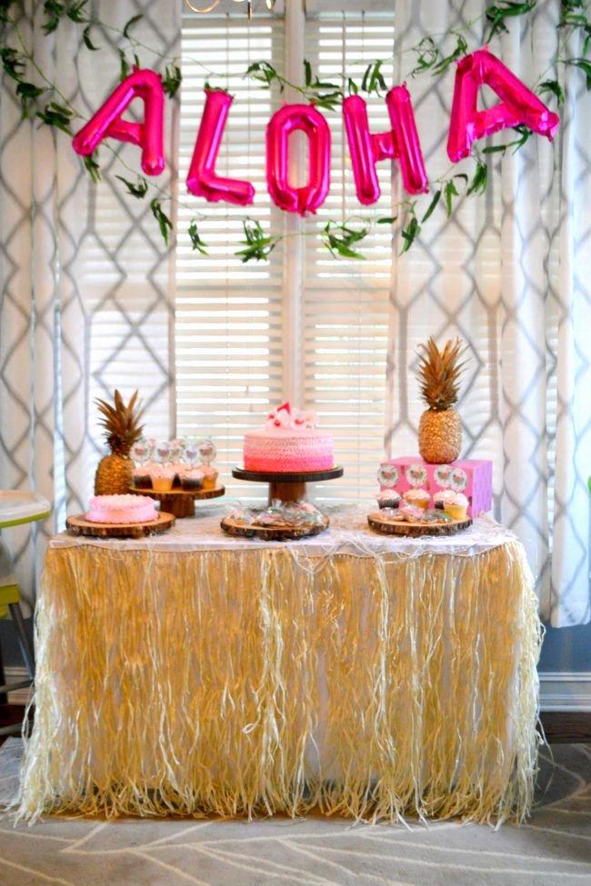 Hawaiian Birthday Decoration Ideas Fresh Children S Luau First Birthday Party Hawaii theme Party