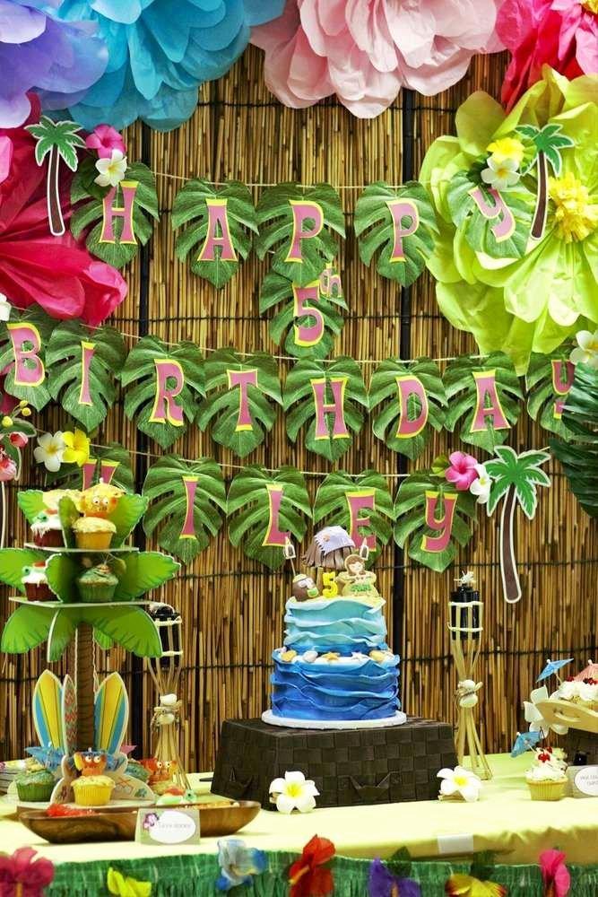 Hawaiian Birthday Decoration Ideas Fresh Luau Hawaiian Birthday Party Ideas