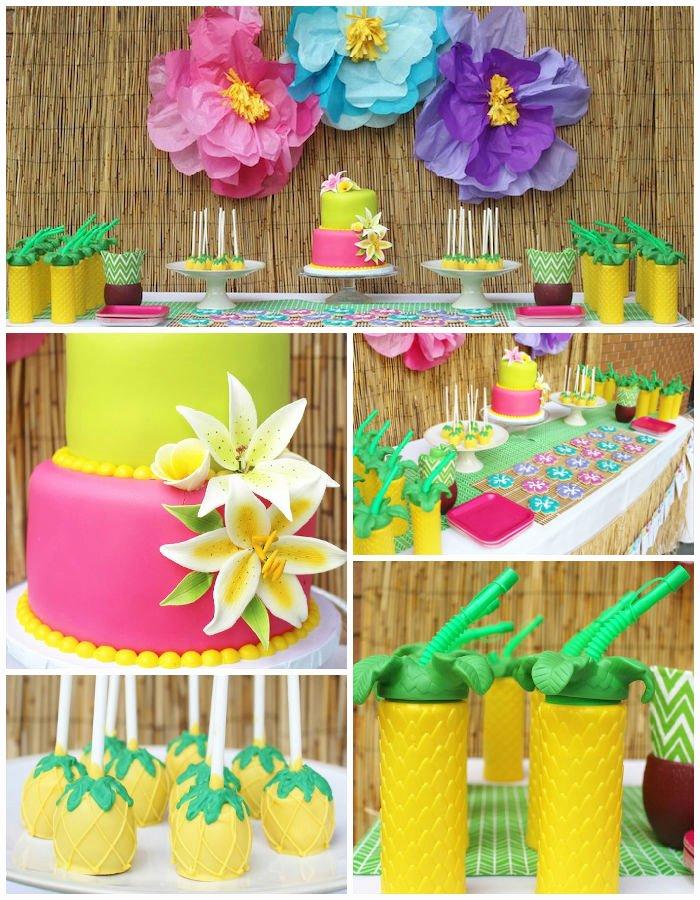 Hawaiian Birthday Decoration Ideas New Kara S Party Ideas Hawaiian 2nd Birthday Party