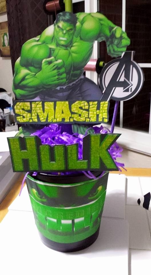 Hulk Birthday Decoration Ideas Beautiful Hulk Centerpiece
