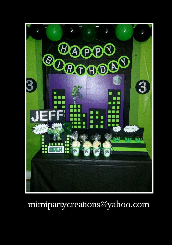 Hulk Birthday Decoration Ideas Beautiful Hulk Table Decorations