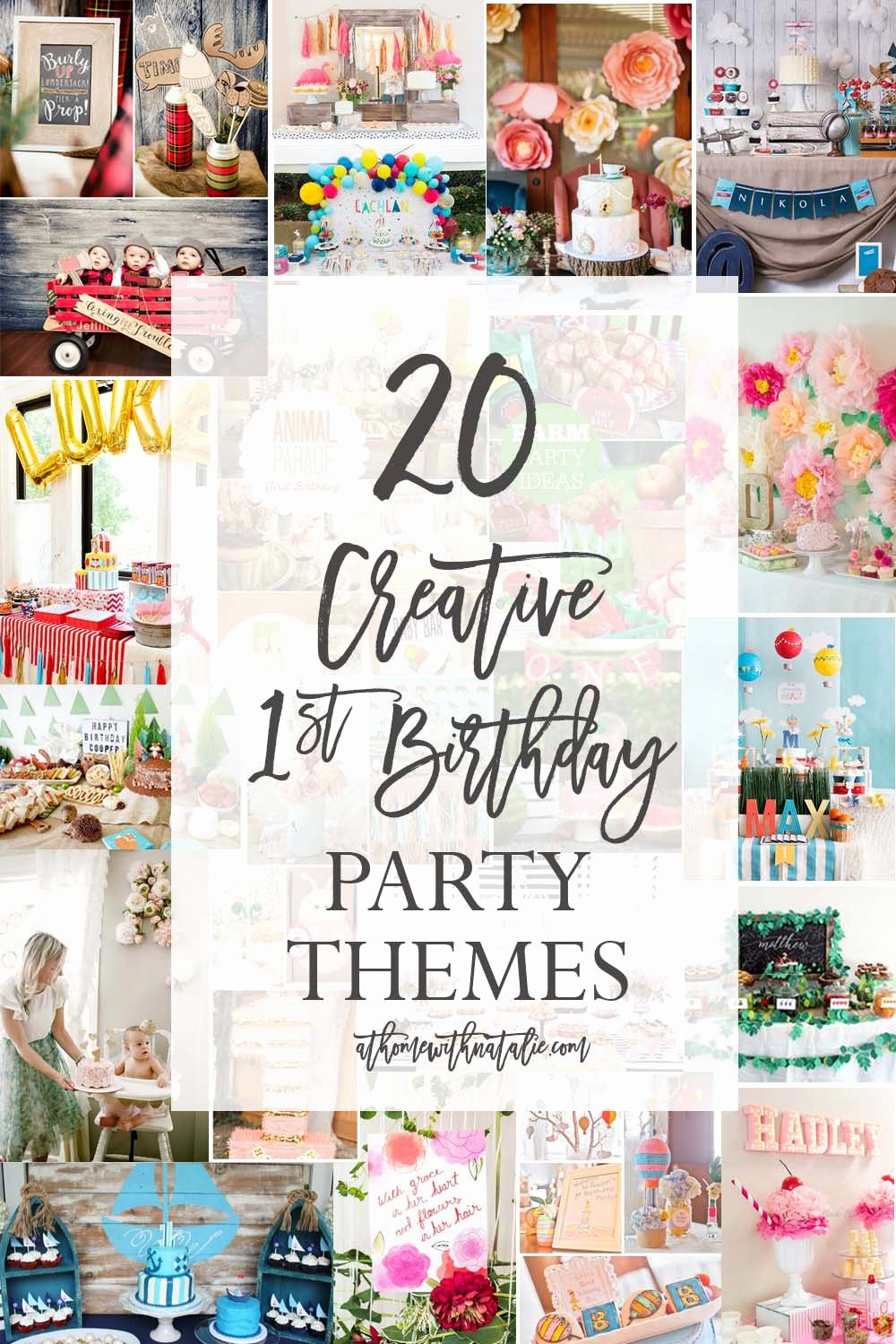 Innovative Birthday Decoration Ideas Inspirational 20 Creative First Birthday Party themes – at Home with Natalie