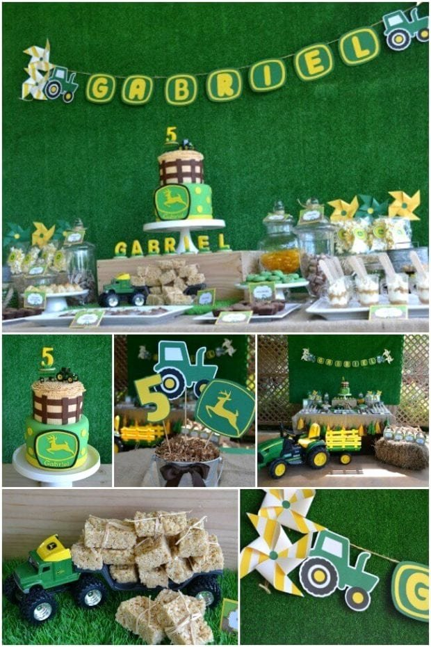 John Deere Birthday Decoration Ideas New A Boy S Tractor Birthday Party Spaceships and Laser Beams