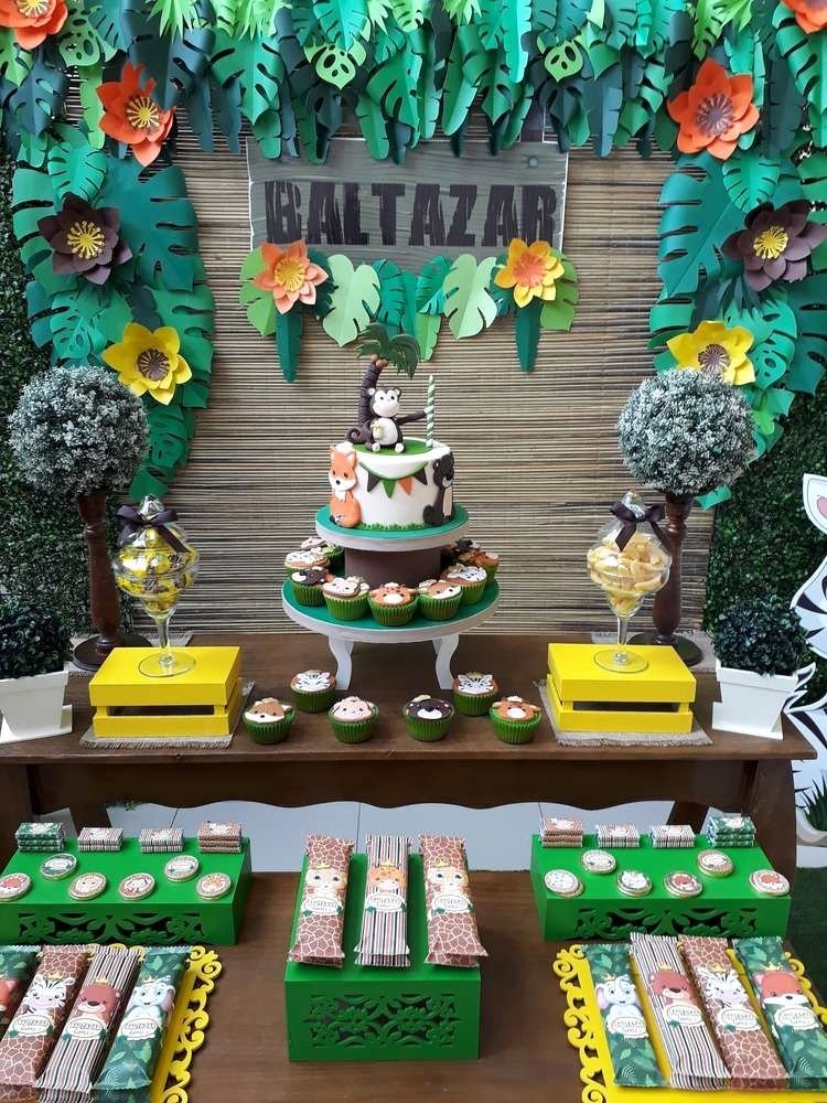 Jungle theme Birthday Decoration Ideas Awesome Birthday Party Ideas
