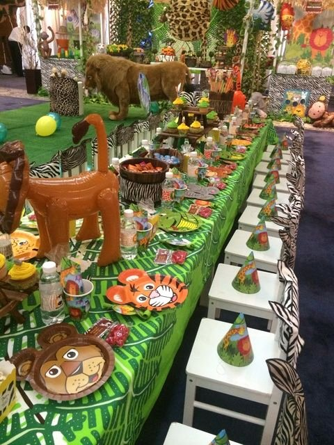 Jungle theme Birthday Decoration Ideas Fresh Jungle Safari Birthday Party Ideas 9 Of 16
