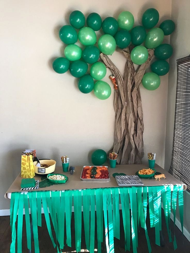 Jungle theme Birthday Decoration Ideas Fresh Lauren S 9th Jungle Birthday