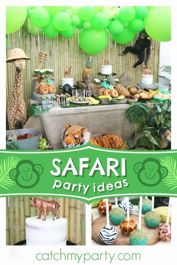 "Jungle theme Birthday Decoration Ideas Fresh Wel E to the Jungle Birthday ""safari Birthday Party"