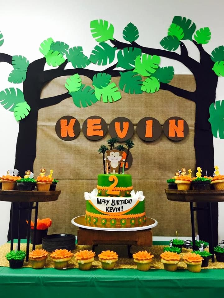 Jungle theme Birthday Decoration Ideas Lovely Jungle themed Birthday Party with Diy Decorations Backdrop