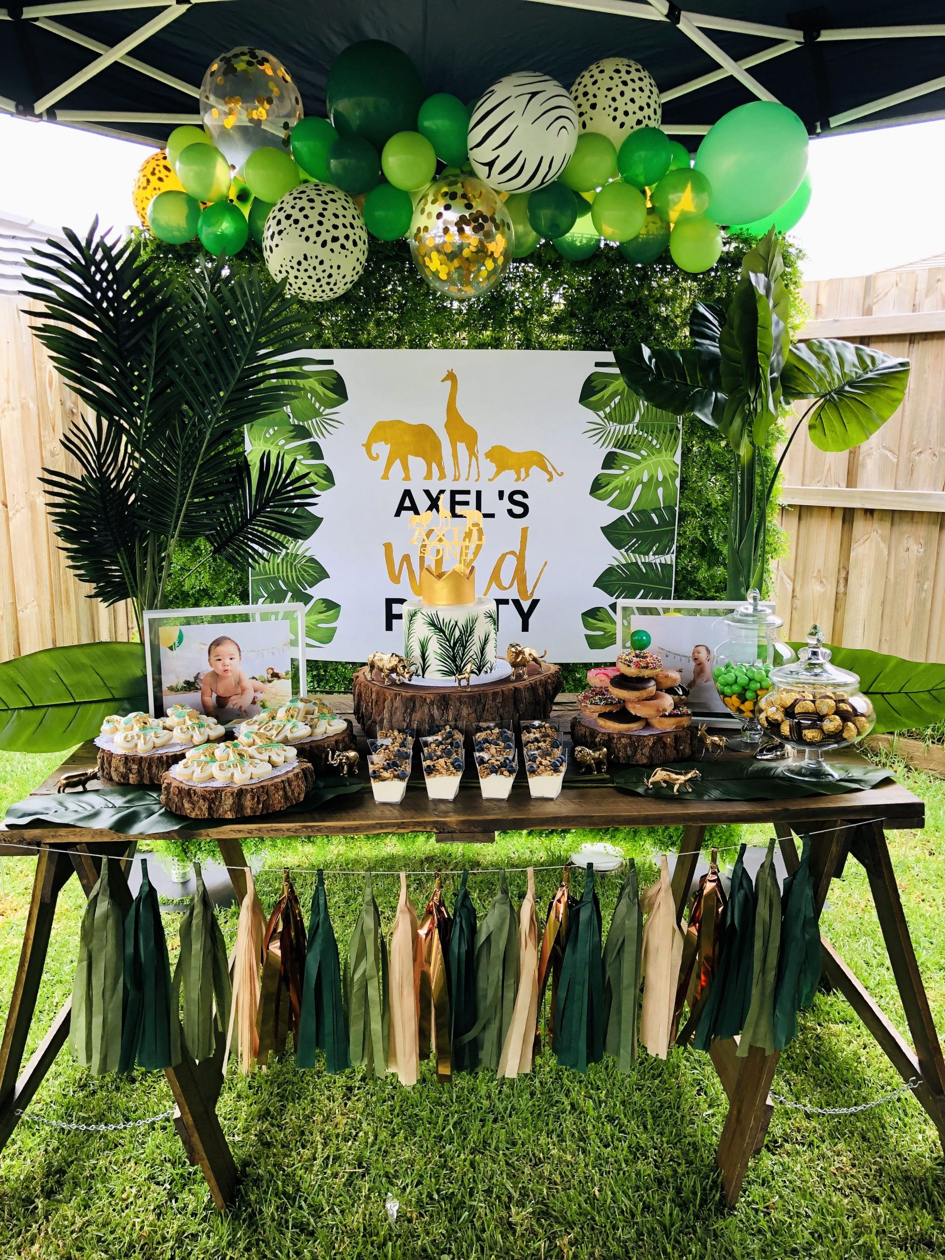 Jungle theme Birthday Decoration Ideas Lovely Wild E
