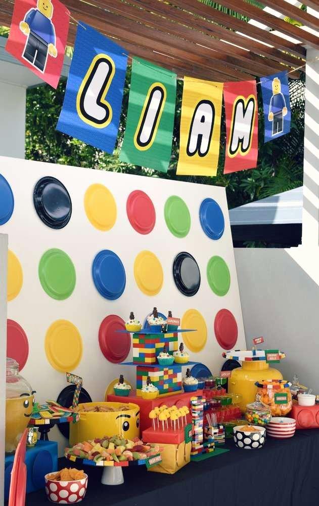 Lego Birthday Decoration Ideas Beautiful Lego Birthday Party Ideas 7 Of 37