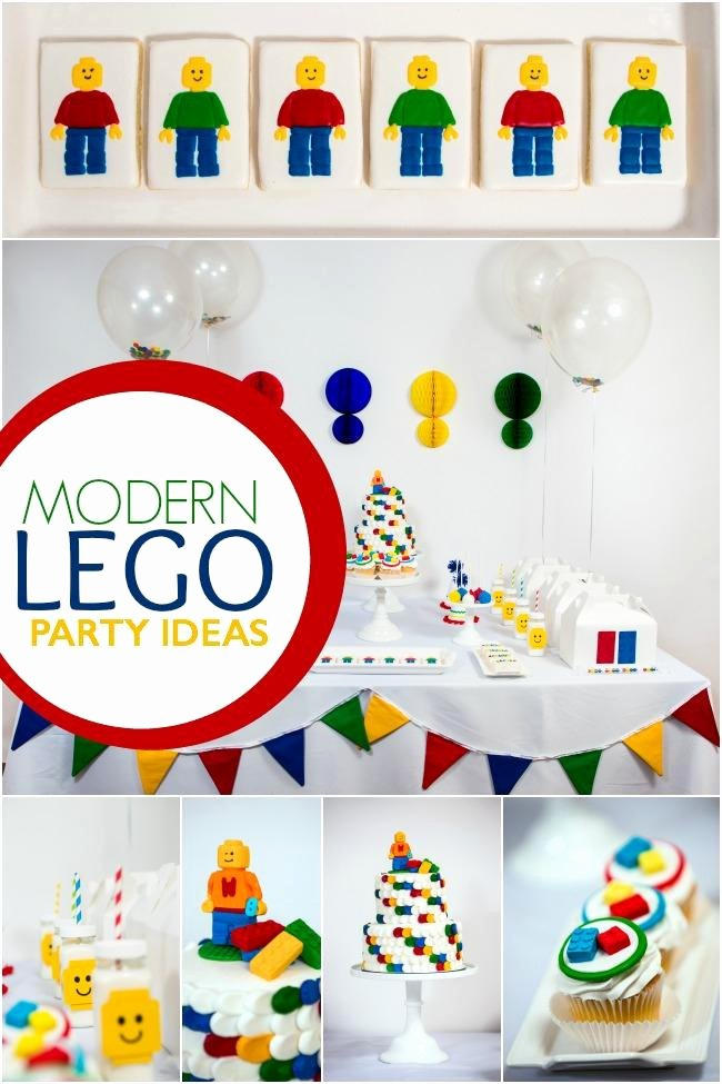 Lego Birthday Decoration Ideas Elegant A Boy S Modern Lego Birthday Party Spaceships and Laser Beams