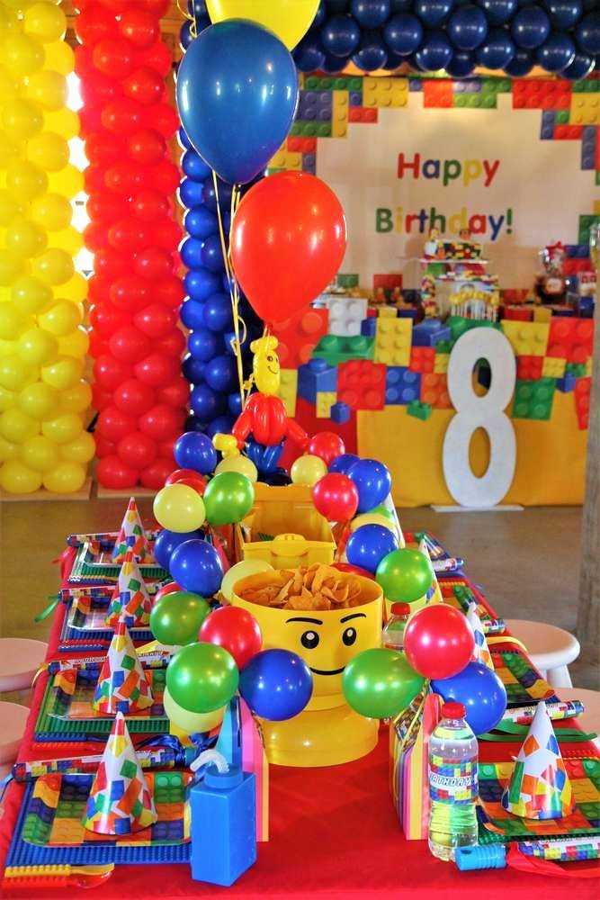 Lego Birthday Decoration Ideas Elegant Lego Party Birthday Party Ideas In 2020