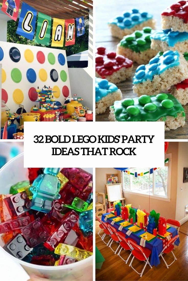 Lego Birthday Decoration Ideas Unique 32 Bold Lego Kids Party Ideas that Rock Wohnidee by