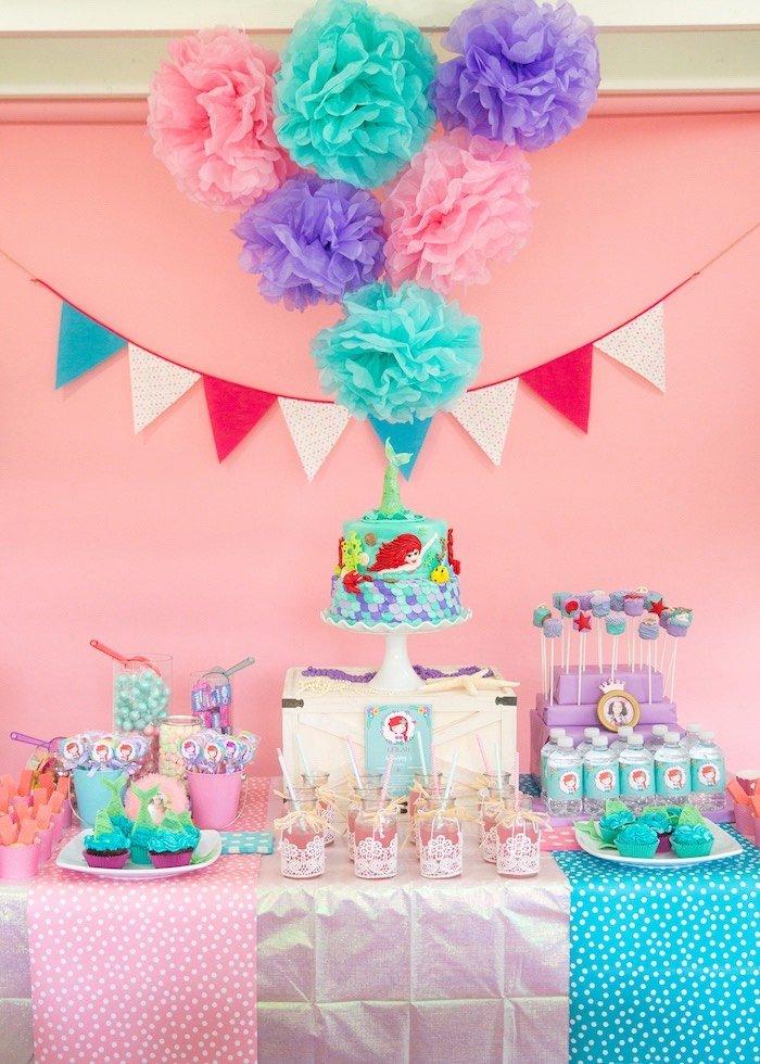 Little Mermaid Birthday Decoration Ideas Awesome Kara S Party Ideas the Little Mermaid Birthday Party