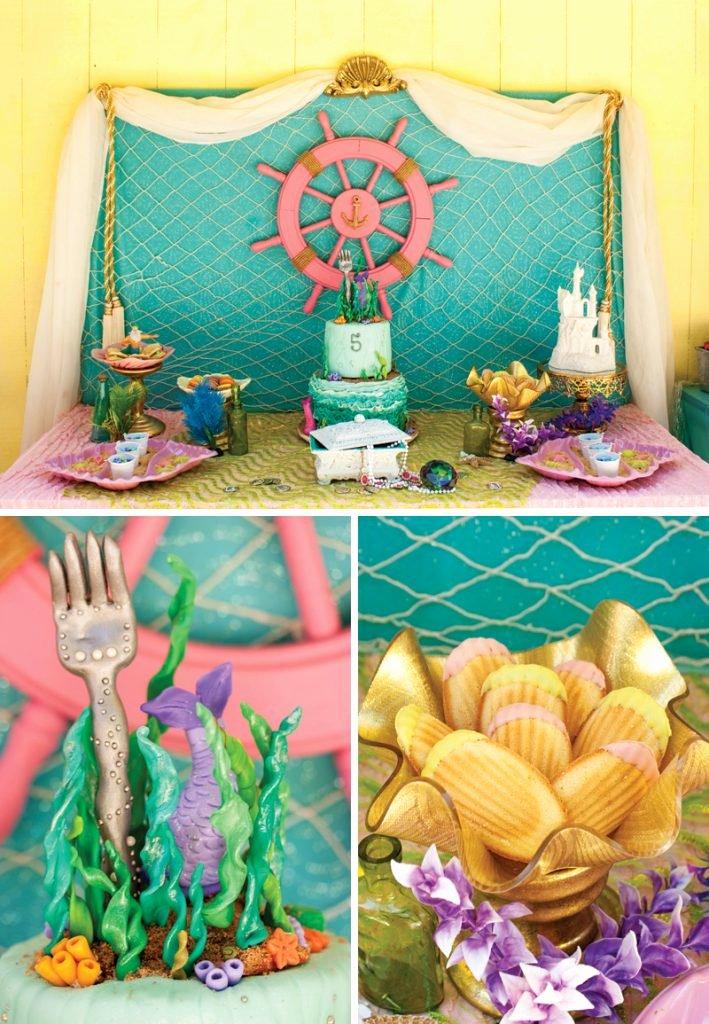 Little Mermaid Birthday Decoration Ideas Beautiful Crafty & Creative Little Mermaid Birthday Pool Party