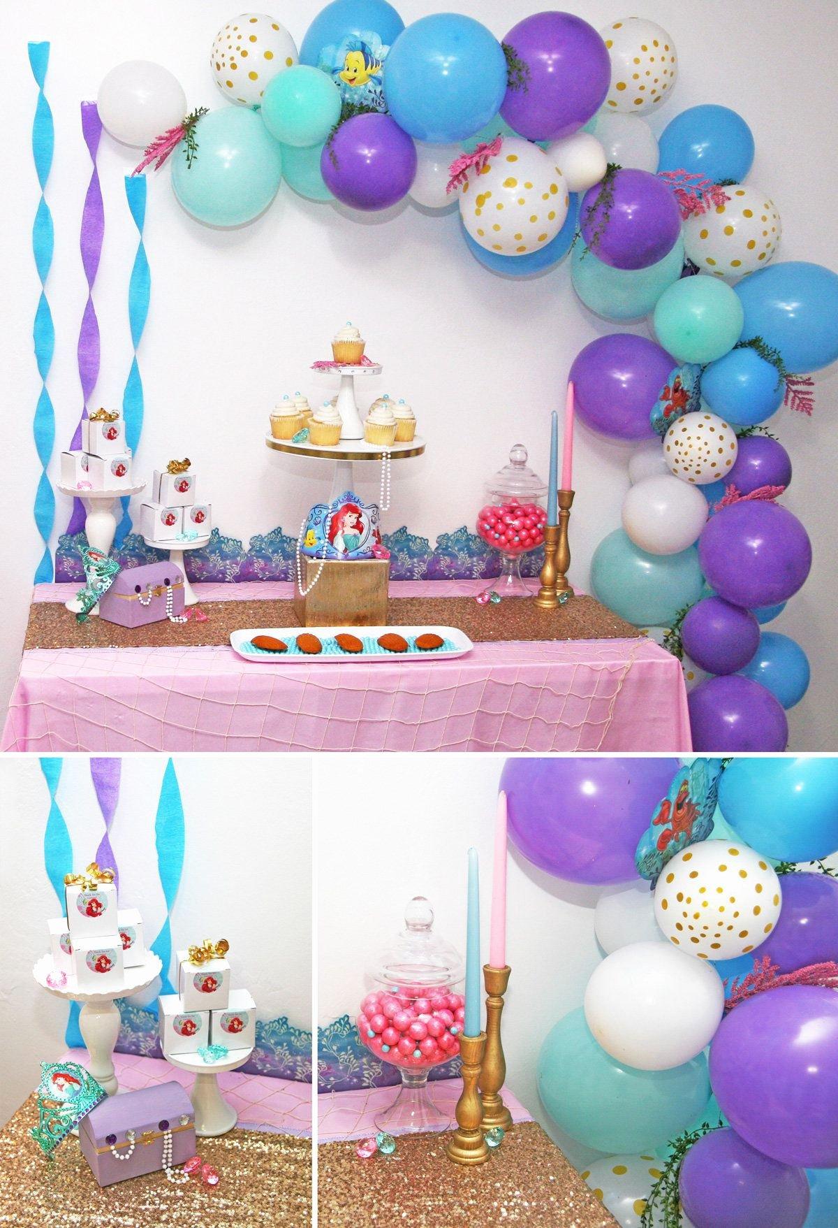 Little Mermaid Birthday Decoration Ideas Beautiful Little Mermaid Party Ideas