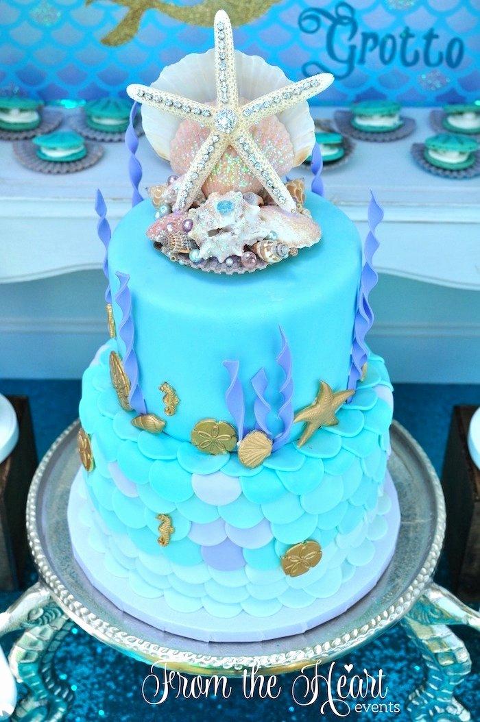 Little Mermaid Birthday Decoration Ideas Inspirational Kara S Party Ideas Vintage Glamorous Little Mermaid Birthday