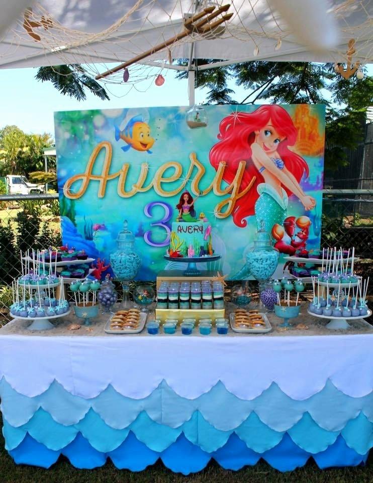 Little Mermaid Birthday Decoration Ideas Inspirational the Little Mermaid Birthday Party Decorations A Pequena