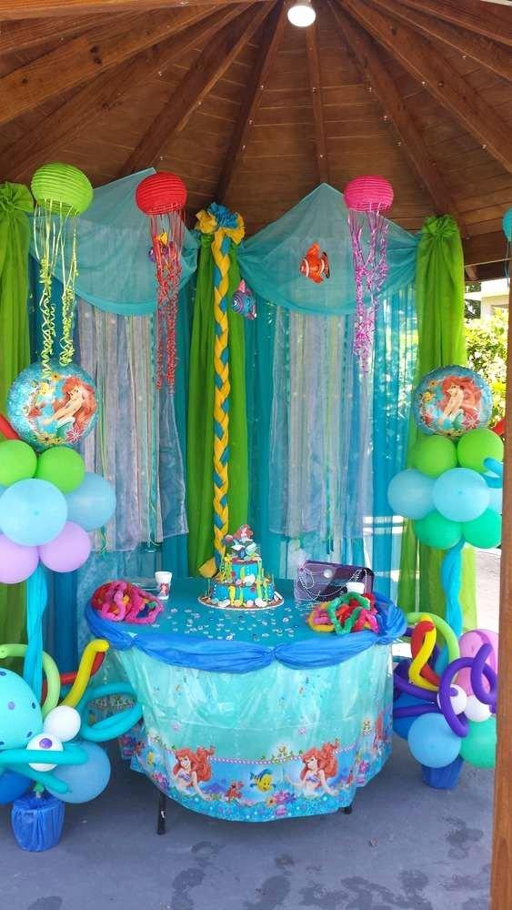 Little Mermaid Birthday Decoration Ideas New Little Mermaid Birthday Party Ideas