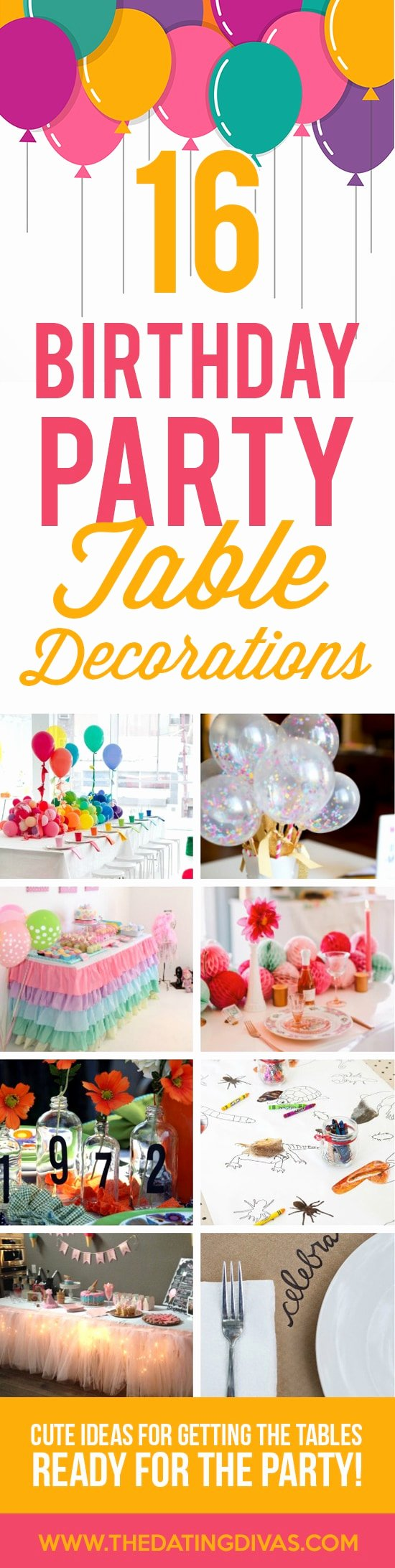 Low Cost Birthday Decoration Ideas Lovely 100 Birthday Party Decoration Ideas the Dating Divas