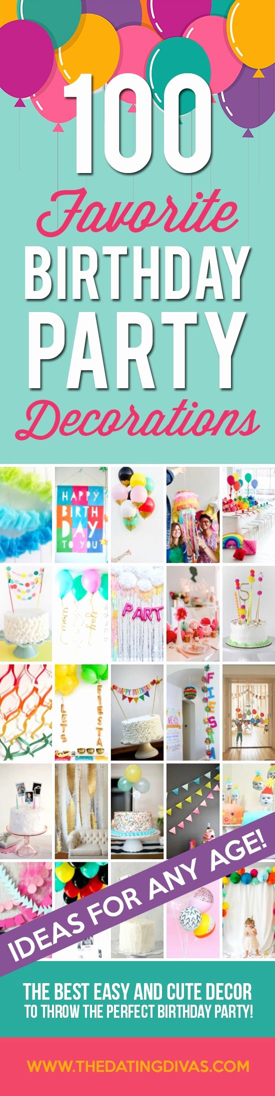 Low Cost Birthday Decoration Ideas New 100 Birthday Party Decoration Ideas the Dating Divas