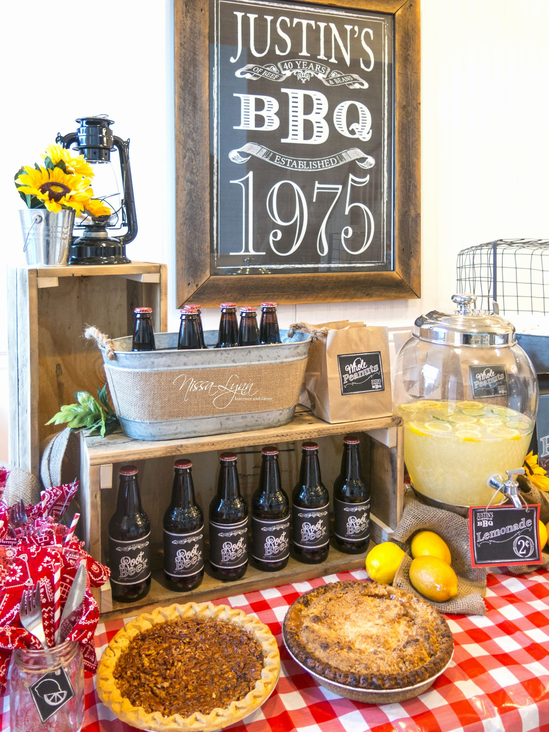 Male 40th Birthday Decoration Ideas Beautiful Rustic Bbq Birthday Party Man 40th Birthday Party