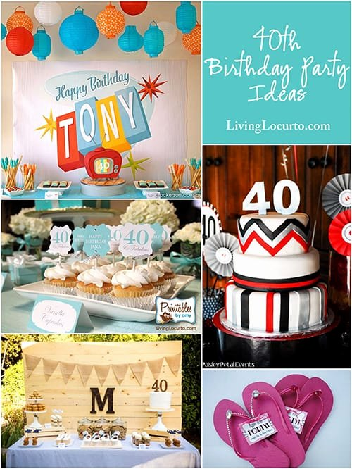 Male 40th Birthday Decoration Ideas New 10 Amazing 40th Birthday Party Ideas for Men and Women