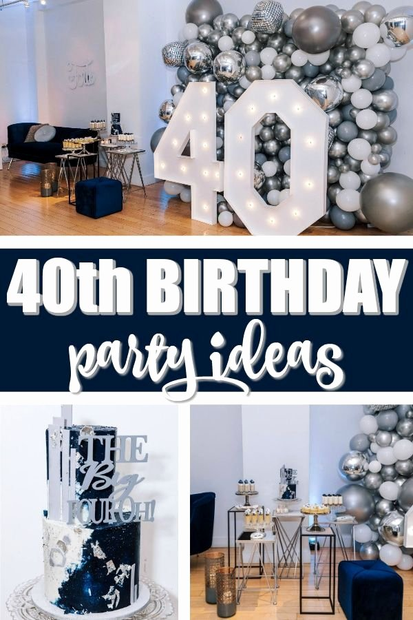 Mens 40th Birthday Decoration Ideas Best Of Navy Blue and Silver 40th Birthday Party