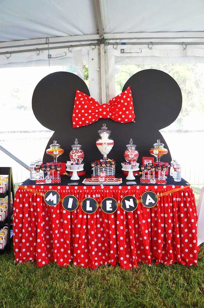 Mickey and Minnie Birthday Decoration Ideas Awesome Minnie Mouse themed Birthday Party Styling Planning Ideas