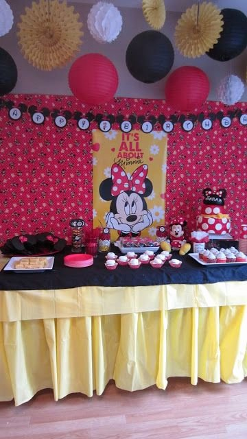 Mickey and Minnie Birthday Decoration Ideas Inspirational Sarah S Minnie Mouse Birthday Party