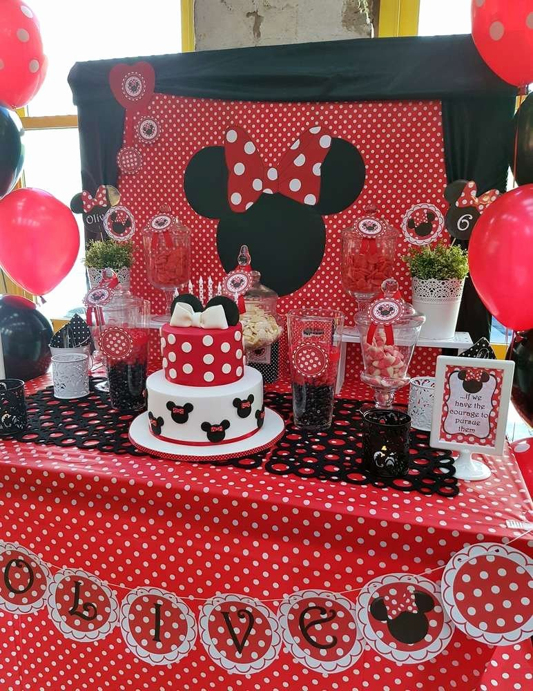 Mickey and Minnie Birthday Decoration Ideas Luxury Minnie Mouse Birthday Party Ideas 9 Of 17
