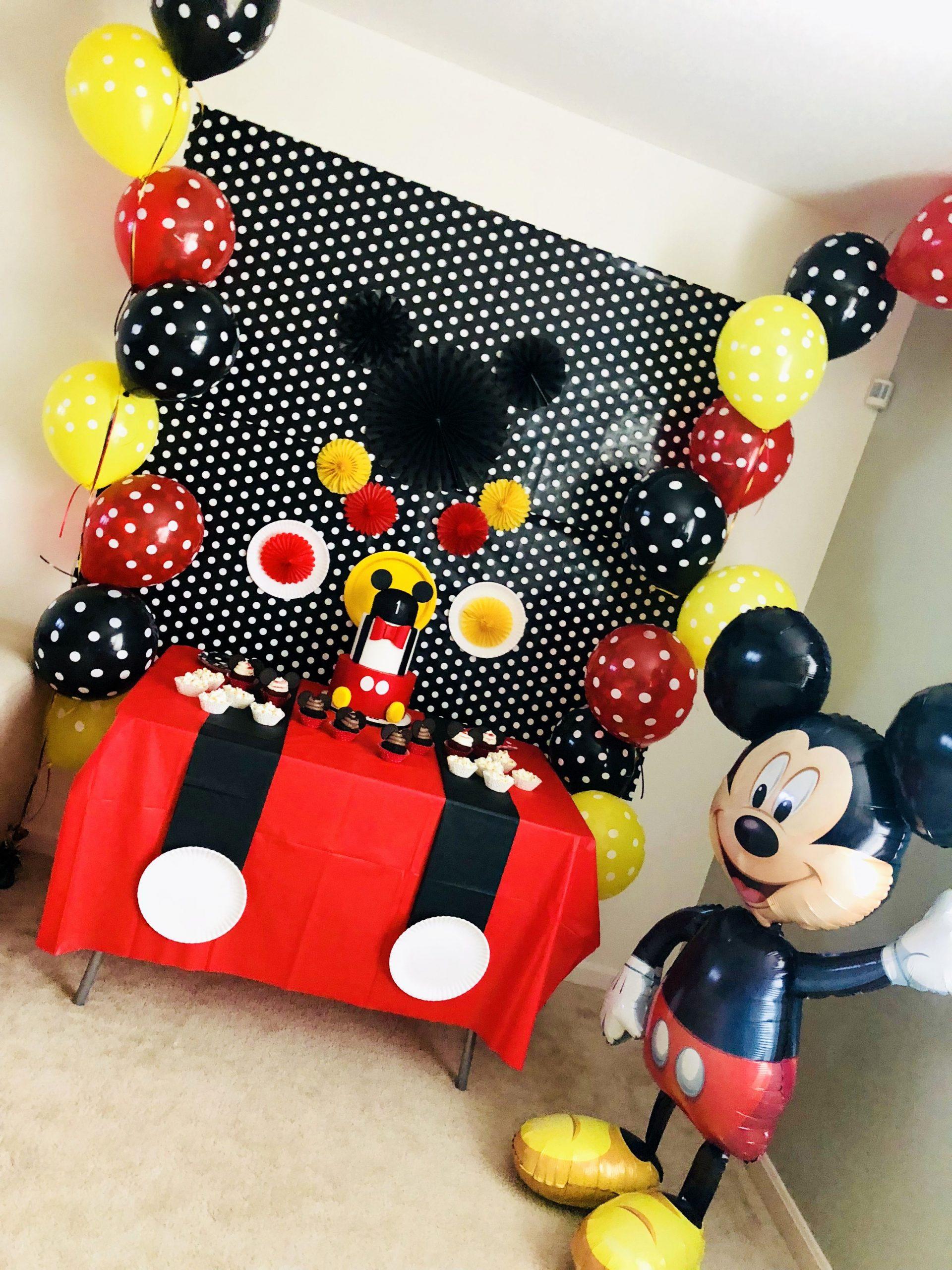 Mickey Birthday Decoration Ideas Beautiful Mickey Birthday Decoration