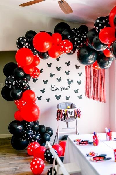 Mickey Birthday Decoration Ideas Beautiful Mickey Mouse 1st Birthday Party Lushra