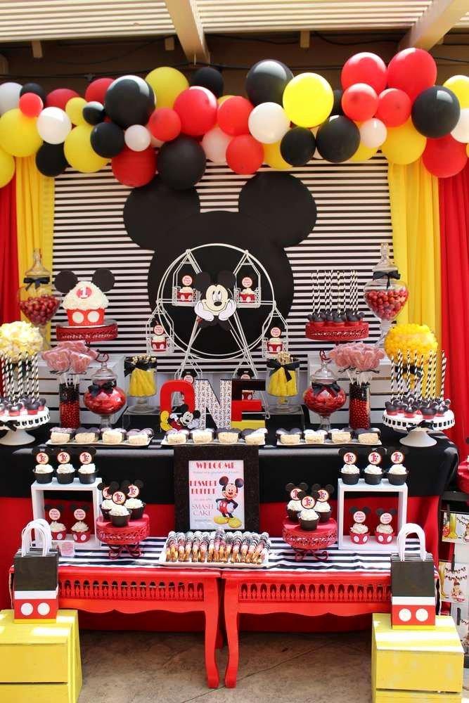 Mickey Birthday Decoration Ideas Best Of Mickey Mouse Birthday Party Ideas Mit Bildern