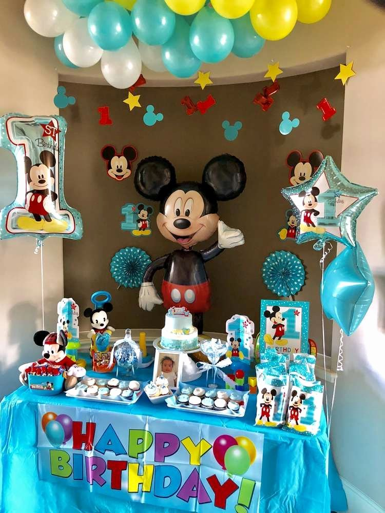 Mickey Birthday Decoration Ideas Inspirational Mickey Mouse Birthday Party Ideas 1 Of 15