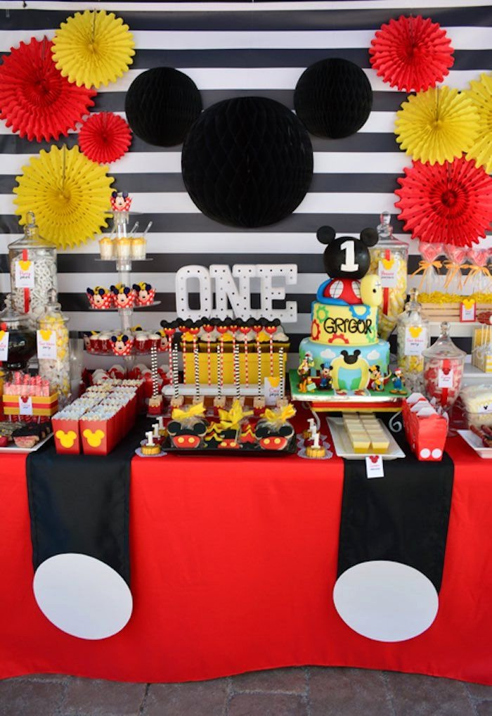Mickey Birthday Decoration Ideas Luxury Mickey Mouse 1st Birthday Party Mit Bildern