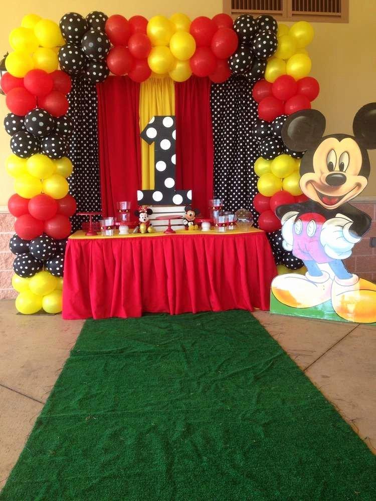 Mickey Birthday Decoration Ideas Luxury Mickey Mouse Birthday Party Ideas En 2020