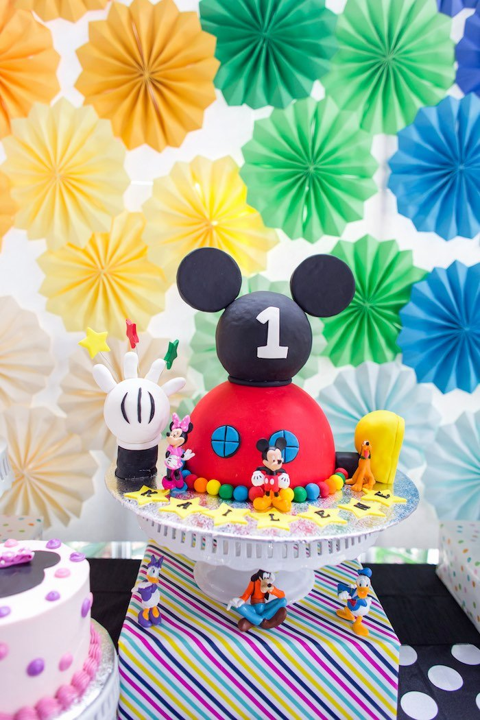 Mickey Mouse Clubhouse Birthday Decoration Ideas Beautiful Kara S Party Ideas Modern Rainbow Mickey Mouse Clubhouse